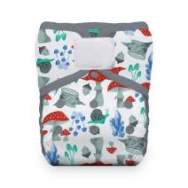 Thirsties Reusable Cloth Diaper, One Size Pocket Diaper, Hook & Loop Closure, Forest Frolic