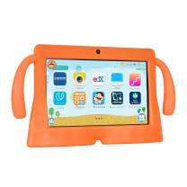 Xgody 7 Inch HD Android Kids Tablet for Kids Internet Class Quad Core Android 8.1 1GB RAM 16GB ROM Touch Screen with WiFi Pre-Loaded 3D Game Dual Camera Orange