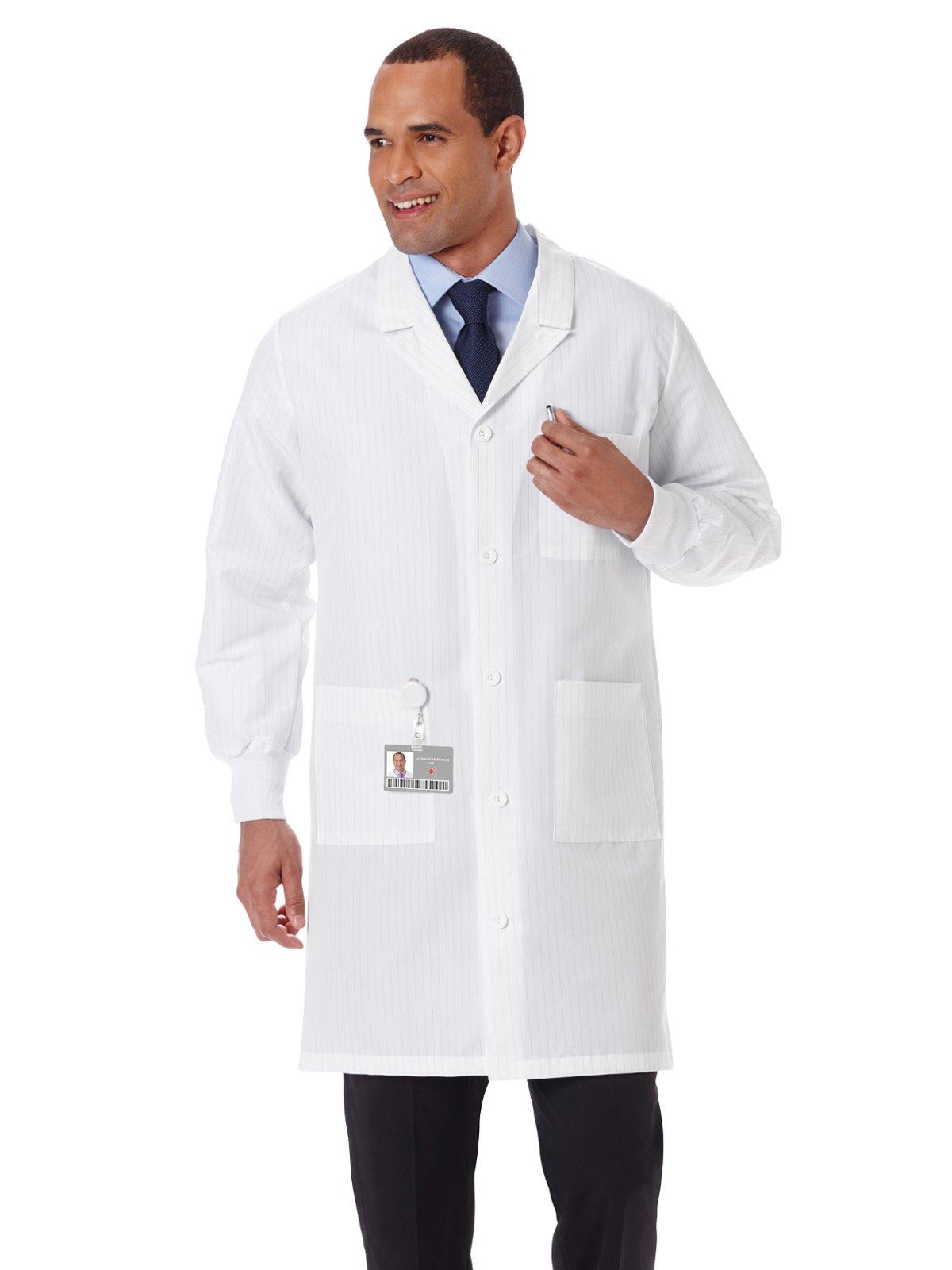 """Meta 11653 Unisex 40"""" Fluid Resistant Lab Coat"""