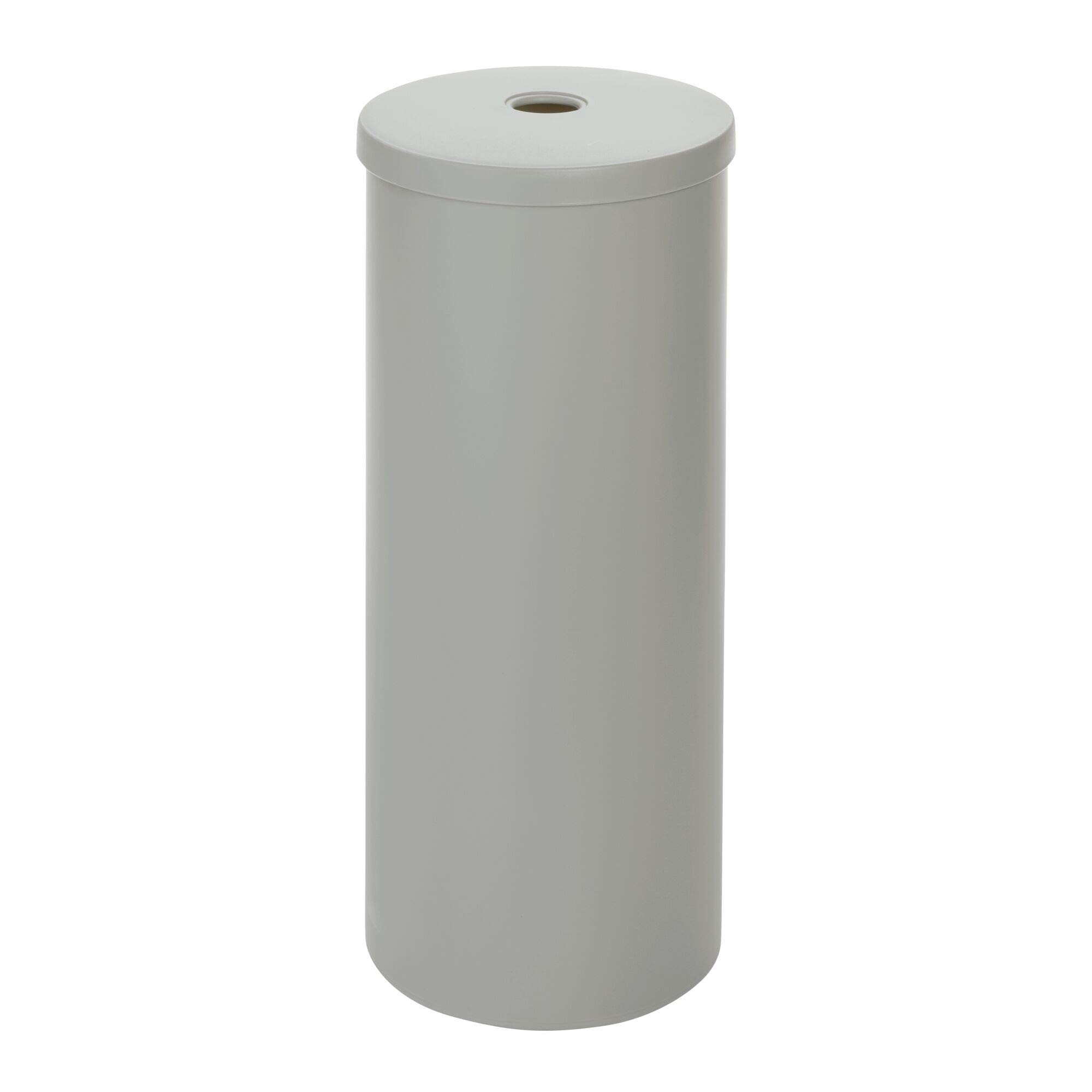 iDesign Cade Toilet Paper Tissue Roll Reserve Canister Organizer for Master, Guest, Kid's, Office Bathroom or Closet, Matte Gray