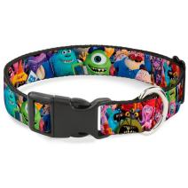 Buckle-Down Dog Collar Plastic Clip Monsters University Monsters Stacked Available In Adjustable Sizes For Small Medium Large Dogs