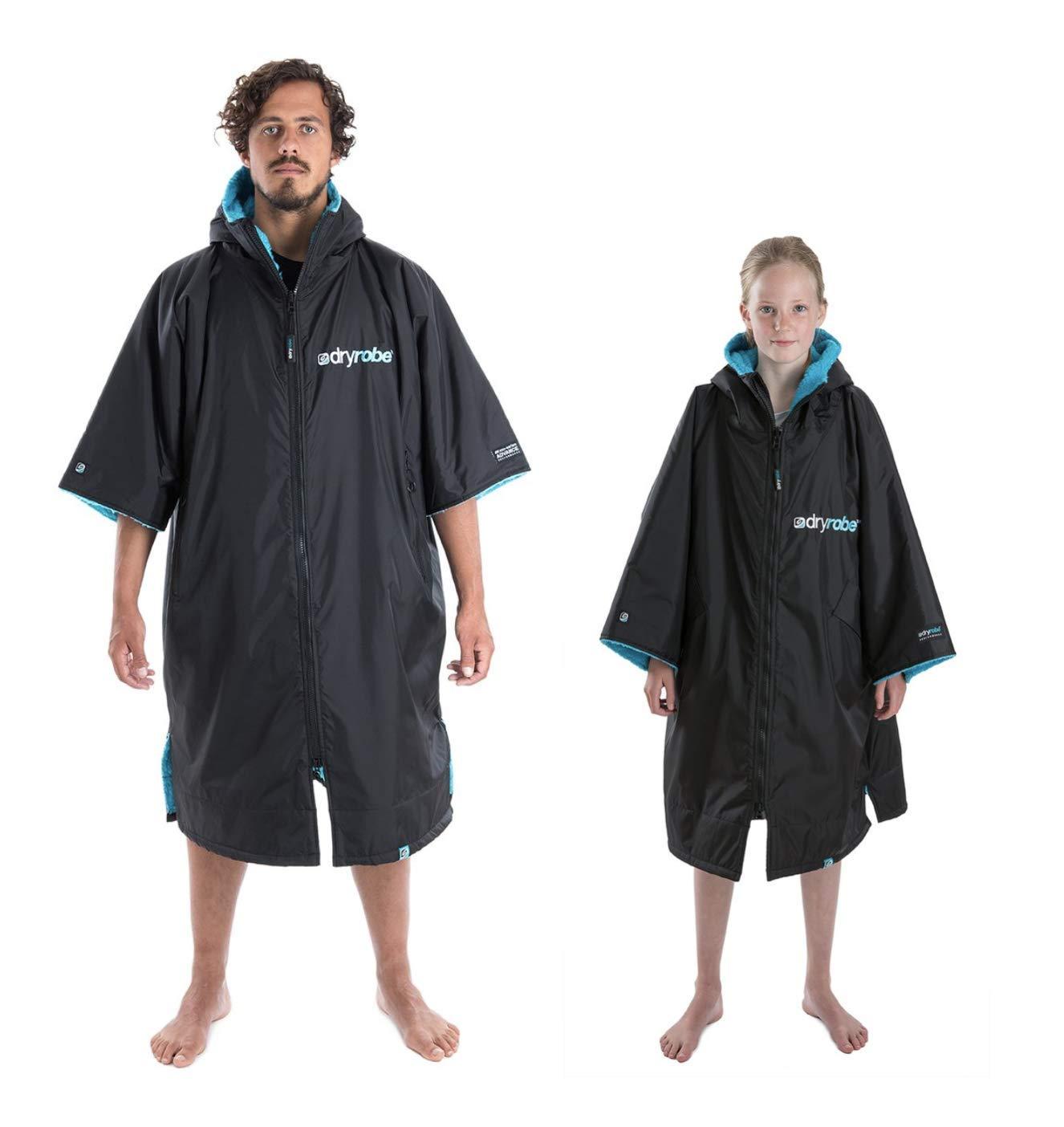 Dryrobe Advance Short Sleeve Change Robe - Stay Warm and Dry - Waterproof Oversized Swim Parka