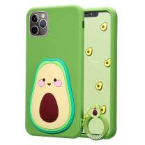 "Coralogo for iPhone 11 Pro Case,3D Cute Cartoon Fun Funny Silicone Character Shockproof Kawaii Fashion Stylish Fruit Design Designer Skin Cover Cases for Girls Teens Kids iPhone 11 Pro 5.8""(Avocado)"
