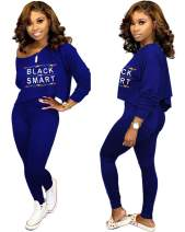 Women Casual 2 Piece Outfits - Sexy Sweatsuits Sets with Hoodies Long Pant Rompers Black Demand Popular