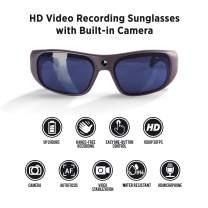 GoVision Apollo 1080p HD Camera Glasses Water Resistant Video Recording Sport Sunglasses - Warm Grey