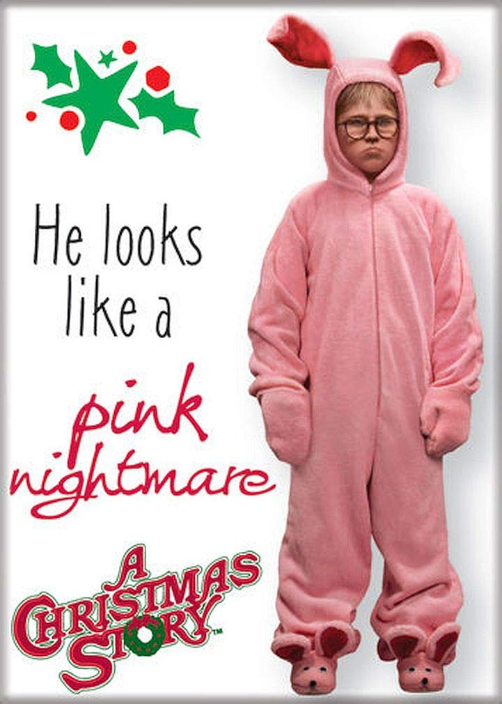 """Ata-Boy A Christmas Story 'A Pink Nightmare' 2.5"""" x 3.5"""" Magnet for Refrigerators and Lockers"""