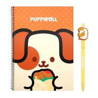 Coosy Anirollz Ruled Spiral B5 Character School Notebook & Character Gel Pen Set (1 Set, 6 Designs Available) (Puppiroll)
