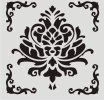 FOUR-C Floral Painting Stencils for Floor Wall Tile Fabric Furniture Wood Burning Art & Craft Supplies Mandala Template-Reusable (A1-1212 in)