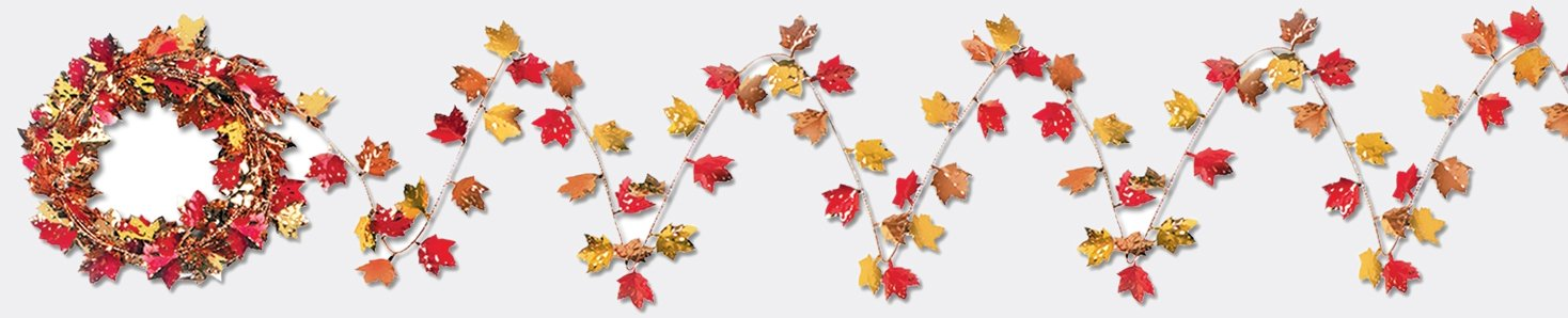 Gleam 'N Flex Autumn Leaf Garland Party Accessory (1 count) (1/Pkg)