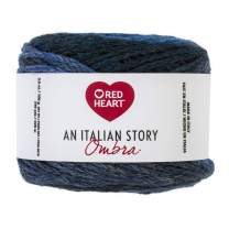 Red Heart Italian Story Ombra Wool Blend Yarn, Mare