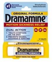 Dramamine Motion Sickness Relief, Original Formula, Tablets 12 ea (Pack of 7)