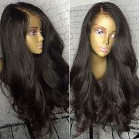 Brazilian 13x6 Lace Front Wigs Human Hair for Black Women 16 Inch Wet and Wavy Wig 150% Density 13x6 Lace Frontal Virgin Hair Wigs with Baby Hair Pre Plucked Lace Wig Body Wave 13x6 Deep Part