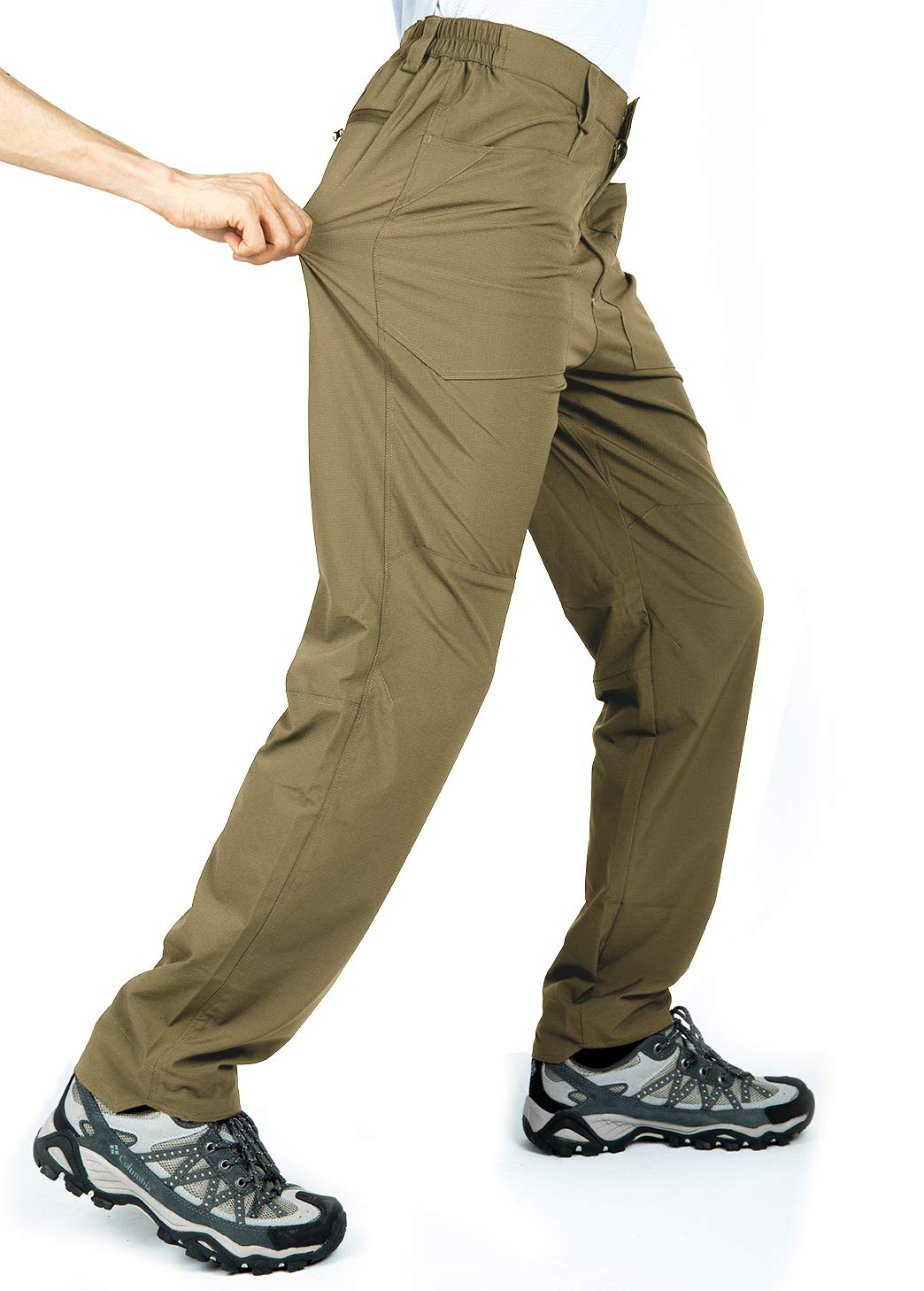 Cycorld Men's-Hiking-Pants, Quick-Dry-Lightweight-Breathable Outdoor-Cargo-Pants for Camping Climbing Fishing with Pockets