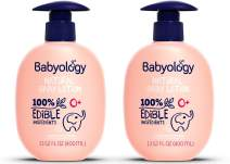 Babyology - Organic Baby Lotion - 100% Edible Ingredients - 13,52 FL OZ - The Safest All Natural Baby Moisturizer for Newborn Dry and Sensitive Skin - Non Toxic - Good for Eczema (Pack of 2)