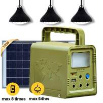 ECO-WORTHY 84Wh Portable Solar Power Generator Lighting System Kit: 18W Solar Panel+3 LED lamp+26000mAh Lithium Battery Pack for Camping, Hurricane, Power Outage, Home Emergency Power Supply Off Grid