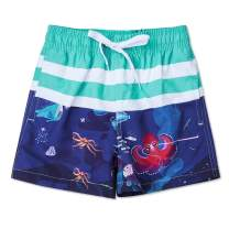 uideazone Boys 3D Printed Funny Swim Trunks Quick Dry Beachwear Sports Running Swim Board Shorts