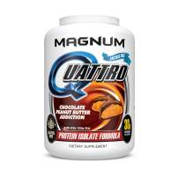 Magnum Nutraceuticals Quattro Chocolate Peanut Butter Addiction-Free Protein Powder for Men & Women (4 lbs.)