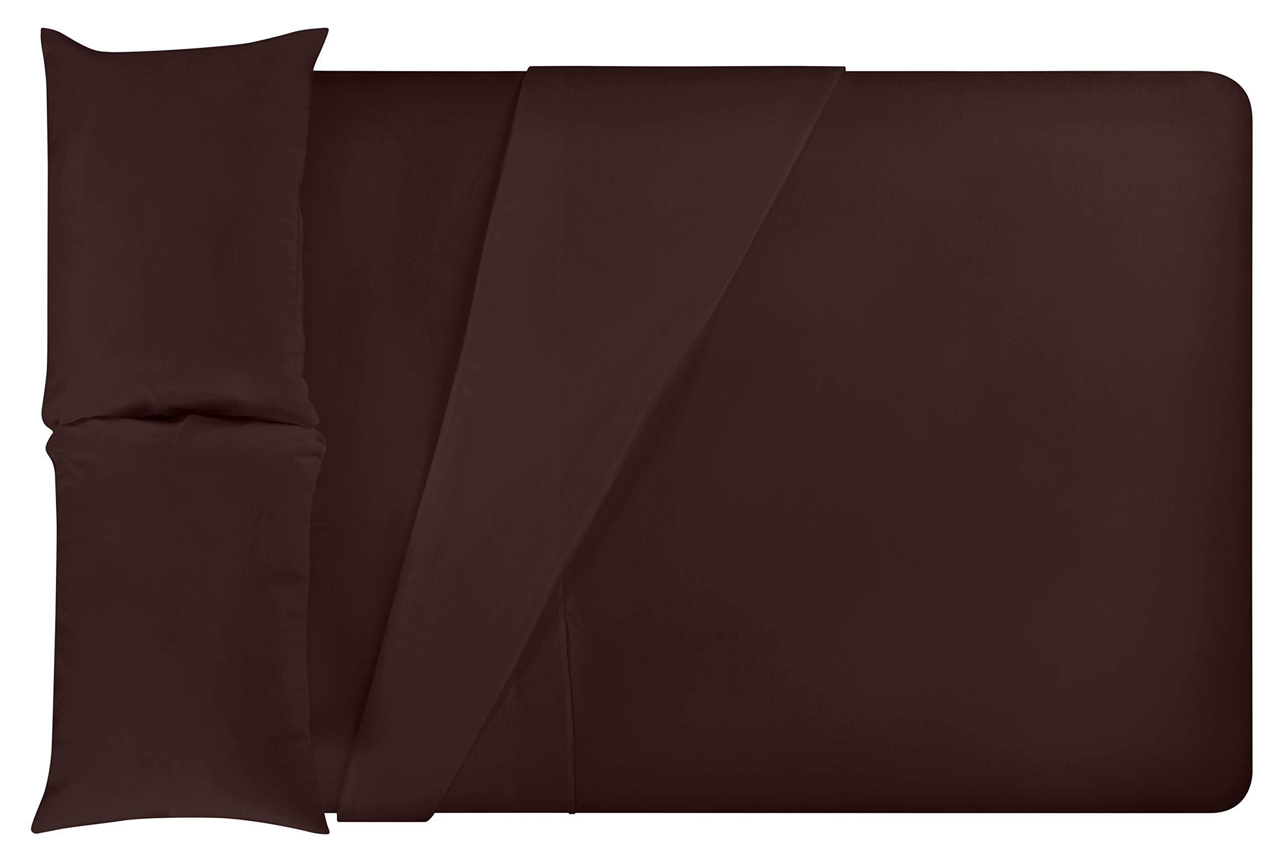 LuxClub 4 PC Microfiber and Bamboo Sheet Set: Bamboo Bedding Sheets with Microfiber - Softer and More Breathable Than Cotton - Machine Washable, Brown, Queen