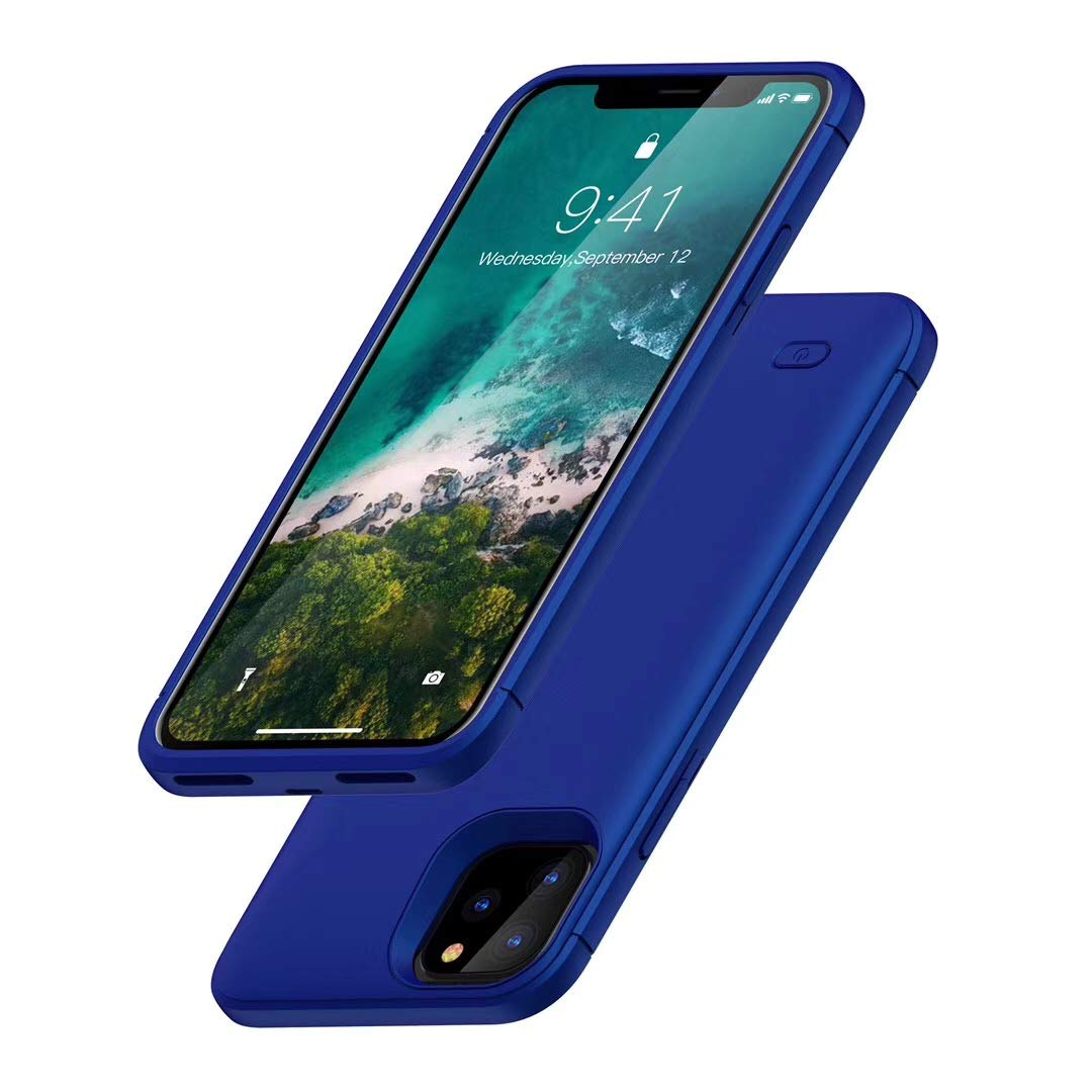 Battery Case for iPhone 11 Pro, HONTECH iPhone 11 Pro Battery Case, 5200mAh Portable Charger Extended Rechargeable Battery Pack Charging Protective Cover 5.8 inch 2019, Blue