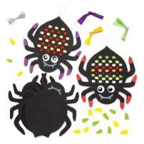 Baker Ross Spider Weaving Craft Kit Halloween Spooky Art (Pack of 6)