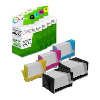 TCT Compatible Ink Cartridge Replacement for HP 902XL 902 XL Works with HP OfficeJet 6950 6954, Pro 6960 6968 Printers (Black T6M14AN, Cyan T6M02AN, Magenta T6M06AN, Yellow T6M10AN) - 5 Pack