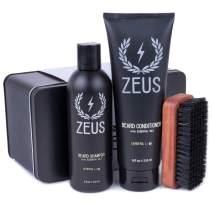 ZEUS Basic Beard and Mustache Grooming Kit, Verbena Lime