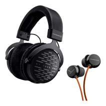 Beyerdynamic DT 1990 Pro Open Studio Reference Headphones 250 Ohm Bundle with Beat Byrd Earbuds, Hard Case, and 1-Year Extended Warranty
