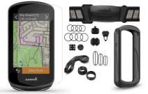 Garmin Edge 1030 Plus Cycle Bundle | with Chest HRM, Speed/Cadence Sensors, PlayBetter Silicone Case & Screen Protectors | 010-02424-01 | GPS Bike Computer (Sensor Bundle, Black Case)