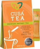 Cusa Tea: Premium Instant Tea - Organic Tea and Real Fruit and Spices - No Sugar or Artificial Flavors - Ready in Seconds - Hot or Iced Tea - Mango 10 Servings