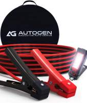 AUTOGEN 1 Gauge 25 Feet 900A Heavy Duty Jumper Cables Booster Battery Cables with LED Light & Carry Bag