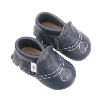 Liv & Leo Baby Girls Moccasins Soft Sole Crib Shoes Slip-on 100% Leather - Heart Collection