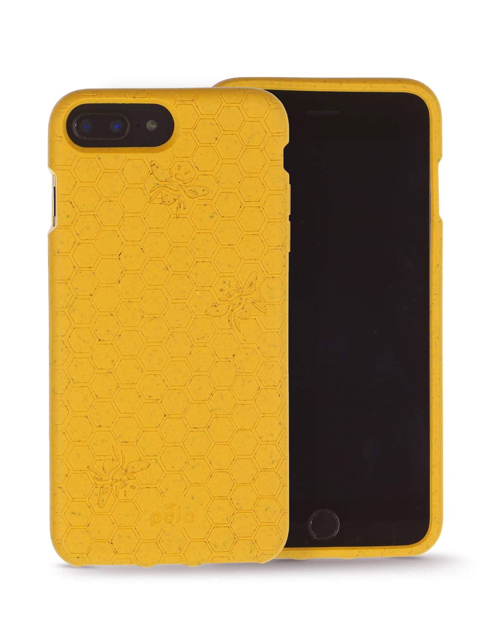 Pela: Phone Case for iPhone 6/6s/7/8/SE - 100% Compostable and Biodegradable - Eco-Friendly - Made from Plants (Plus Honey Bee)