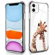 RicHyun Case for iPhone 11, Cute Giraffe with Baby Pattern Print Soft Flexible TPU Bumper Case for iPhone 11 6.1 inch 2019
