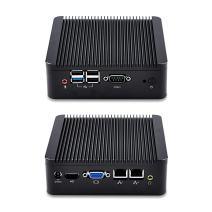 Qotom Mini PC Bay Trail j1900 Quad Core 2.0 GHz 4GB RAM 32GB SSD WiFi Fanless Dual LAN Mini PC with Serial Port