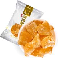 1.1lb / 500g Yellow Rock Lump Candy Crystals - 黄冰糖, Sweet Flavor Sugar Made of Sugarcane, Used to Sweeten Milk, Coffee or Tea, Resealable Bag