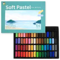 HASHI Non Toxic Soft Pastel Set for Professionals - Square Chalks Assorted Colors (64 Colors)
