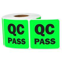 """3 Rolls - Quality Control: QC Pass Label for QC, Testing, Inventory Green 2"""" x 2"""" - 900 Labels"""