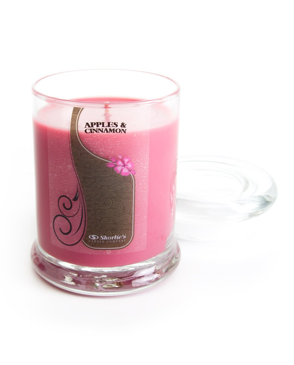 Apples & Cinnamon Candles - Small Dark Red 6.5 Oz. Highly Scented Jar Candle - Made with Natural Oils - Bakery & Food Collection