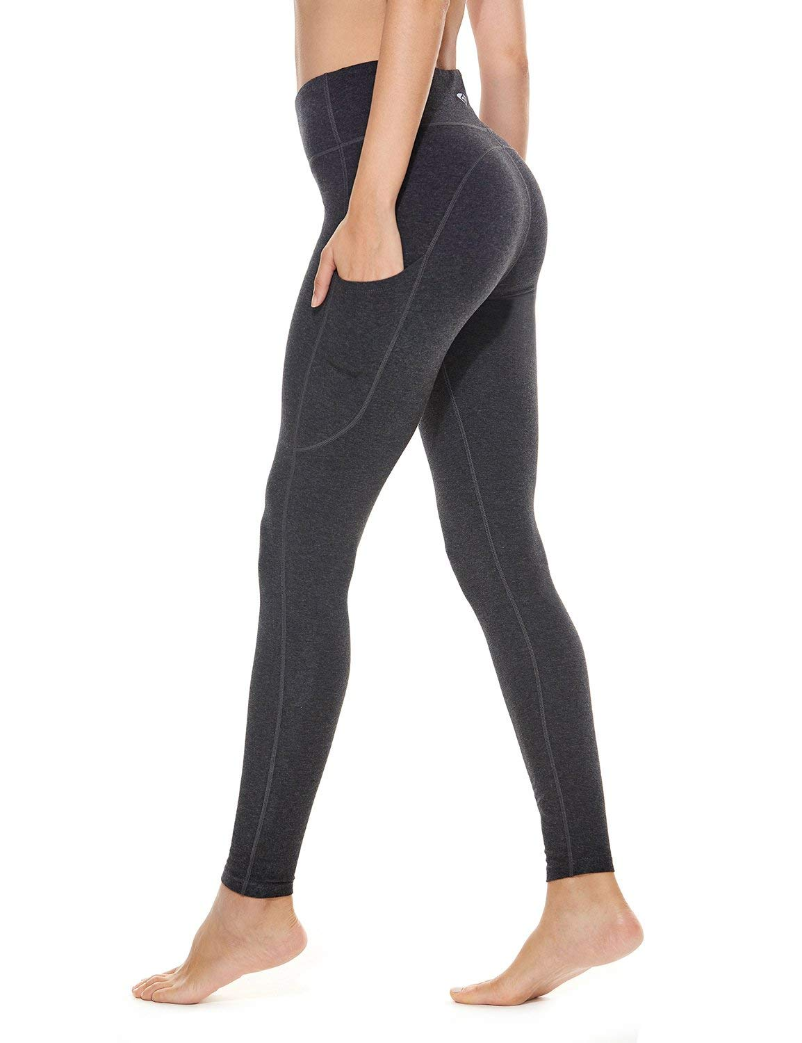 BALEAF Women's High Waisted Yoga Pants Side Pocketed Workout Running Leggings Tummy Control