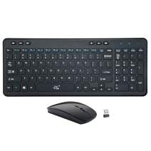 SR Wireless Keyboard Mouse Combo,Thin,Quiet,Compact,Full Size,2.4G USB Keyboard Combo for Pc Computer Laptop Notebook Windows 7, 8, 10