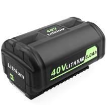ADVTRONICS 40V 6.0Ah OP4050A Battery Compatible with Ryobi 40 Volt Lithium Battery OP4050A OP4026 for Ryobi 40V Collection Cordless Power Tool OP4040 OP4026A OP40201 OP40301 OP40401 OP40601 OP40501
