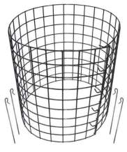 Erva Bunny Barricades 5pk - Sturdy & Easy to Assemble - Protect Your Plants, Vegetables and Shrubs from Pests - Made in The USA