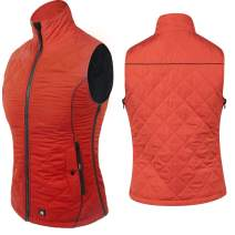ARRIS Heated Vest for Women, Size Adjustable 7.4V Battery Electric Warm Clothing for Hiking Camping Skiing Orange