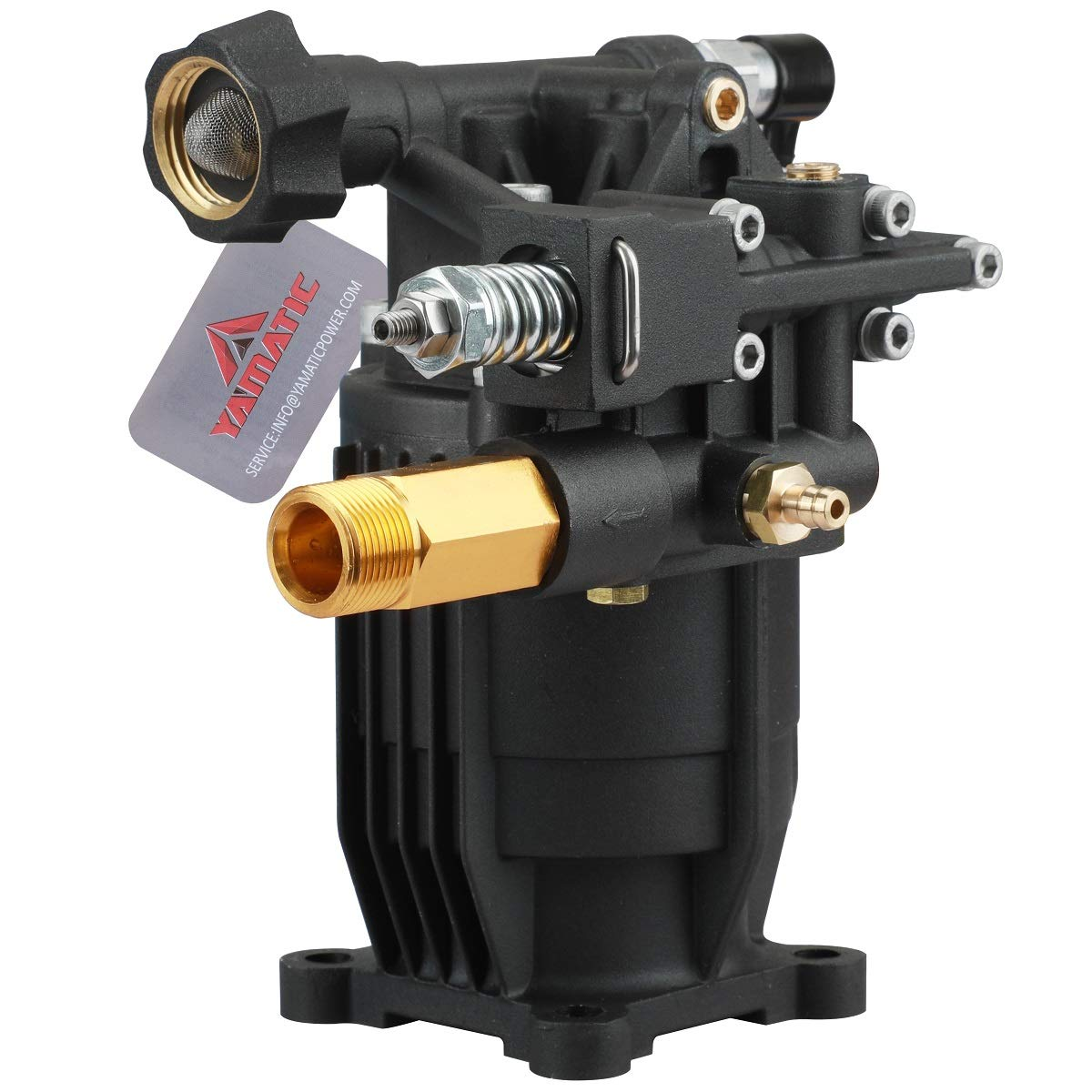 """YAMATIC Horizontal Pump 3/4"""" Shaft 3100 PSI 2.5 GPM - Upgrade- Cold Water Power Pressure Washer Pump Replacement for 308418007 Generac 308418007 Simpson MSH3125 and Many Models"""