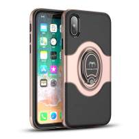 "Mosafe Case for iPhone Xs, 360° Rotating Finger Ring Holder Kickstand Shockproof Back Cover Working with Magnetic Car Mount (Rose Gold, for iPhone Xs (5.8"")"