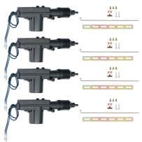 ESUPPORT Black Car Plastic Universal Heavy Duty Power Door Lock Actuator 2 Wire 12V Pack of 4