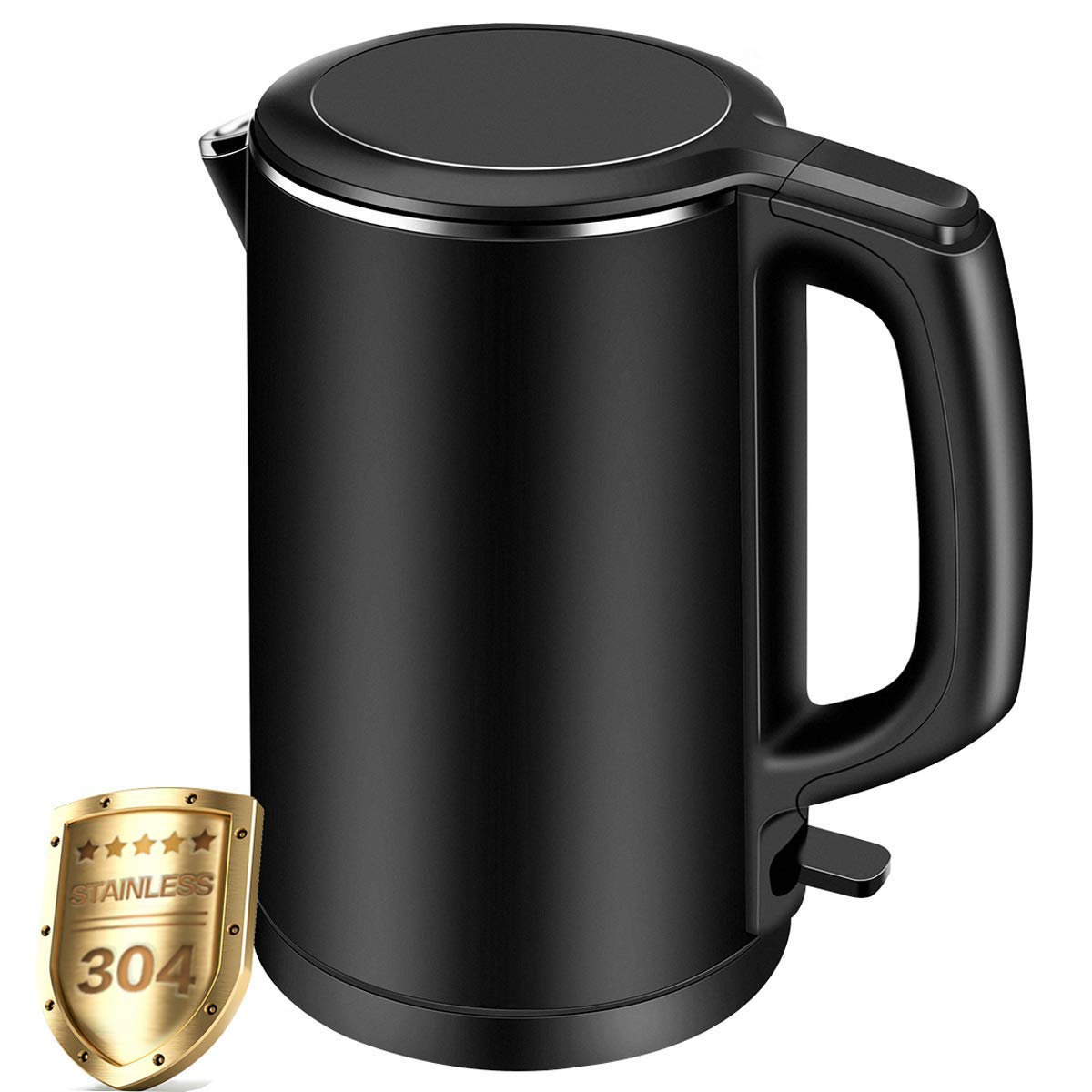 Electric Kettle, CUSIBOX 1.5L Double Wall 100% Stainless Steel Tea Kettle Cool Touch, 1500W Fast Boil Cordless Water Kettle with Auto Shut-Off & Boil Dry Protection