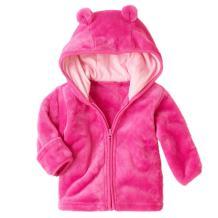 MIOIM Toddler Kids Boys Girls Hooded Fleece Coat Winter Outwear Windproof Zipper Puffer Jacket 3-24M