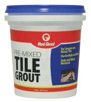 Red Devil 0428 Pre-Mixed Tile Grout (1 Pint), White