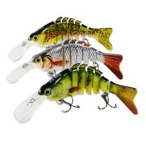 Rose Kuli Fishing Lures Lifelike Bass Lures Multi Jointed Swimbaits Slow Sinking Hard Bait Fishing Tackle Kits